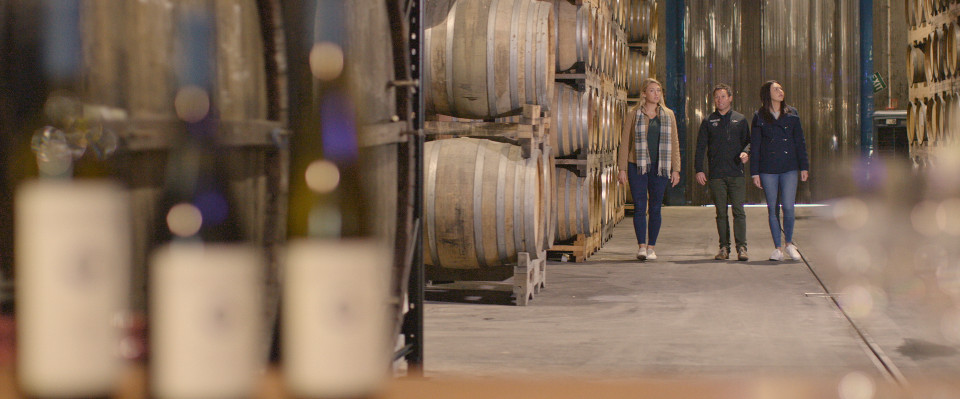 pegasus bay winery is family run, north of Christchurch