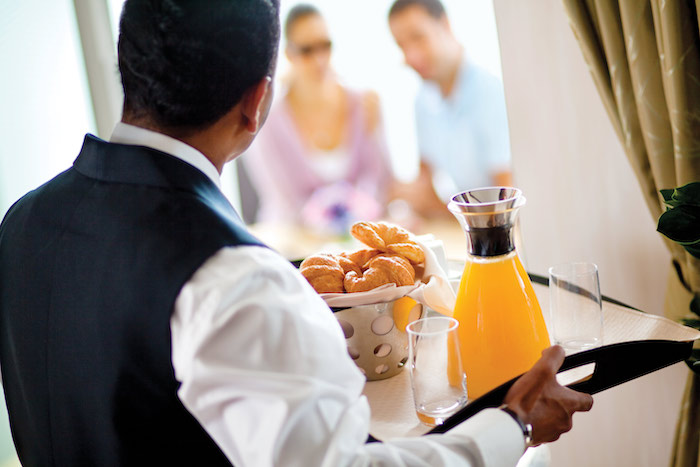 Butler service is available on luxury cruises with Celebrity Cruises