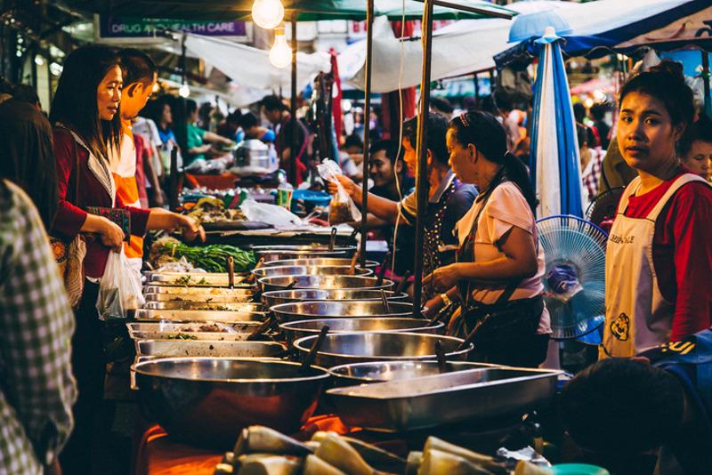 Street vendors in Phuket