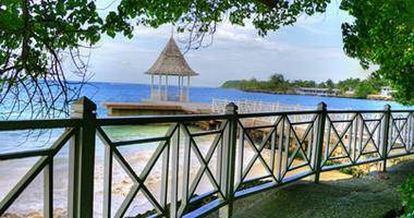 Jetty over the beautiful waters of Montego Bay