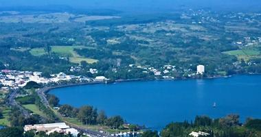 Aerial view over Hilo