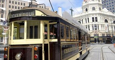 Restored heritage trams - Christchurch