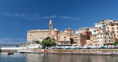 Beautiful coastline of Genoa