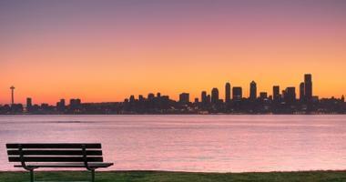 Enjoy sunsets over Seattle