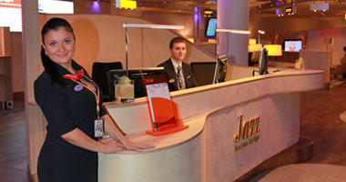 The Aeroflot lounge