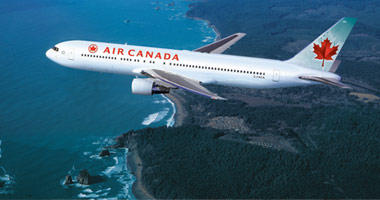 Air Canada in the sky