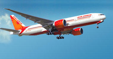 Air India in the sky