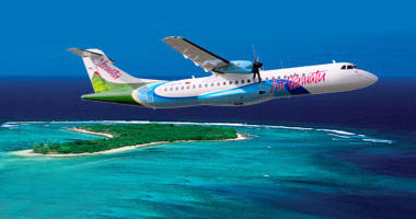 Air Vanuatu in the sky