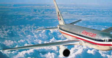 American Airlines in the sky