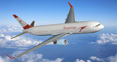 Austrian Airlines in the sky