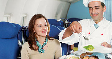 In-flight meal service