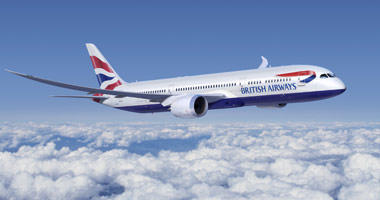 British Airways in the sky