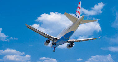 Croatia Airlines in the sky