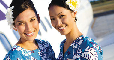 Hawaiian Airlines flight crew