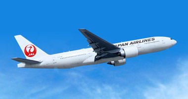 Japan Airlines in the sky