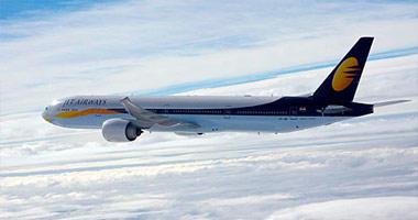 Jet Airways India in the sky