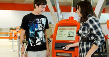 Electronic kiosks make check-in easy