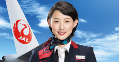 Japan Airlines' friendly staff