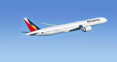 Philippine Airlines in the sky