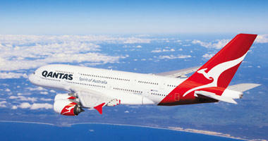 Qantas in the sky