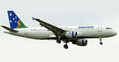 Solomon Airlines in the sky