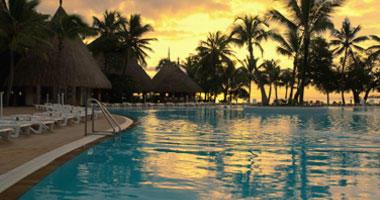 Resort Pool at Dusk