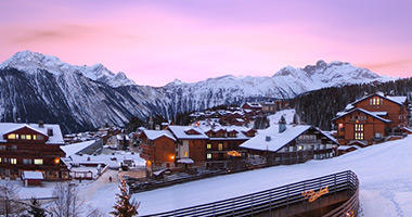 Sunset over the French Alps