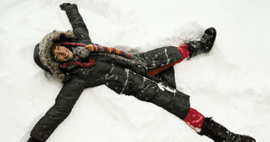 Make a Snow Angel - Check!