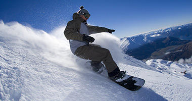 Boarding in the Southern Alps