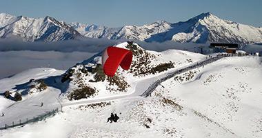 Paragliding Above Coronet Peak