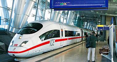 Board an ICE Train in Germany