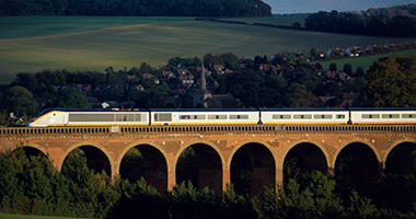 Passing over Eynsford Viaduct in Kent