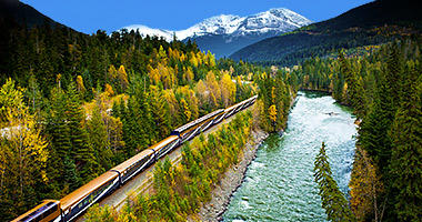 Travelling along the North Thompson River