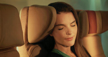 Economy Class adjustable head rest.