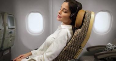 Etihad Airways Economy Class seating.