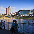 The Adelaide Convention Center from the river