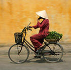Vietnam local on bike