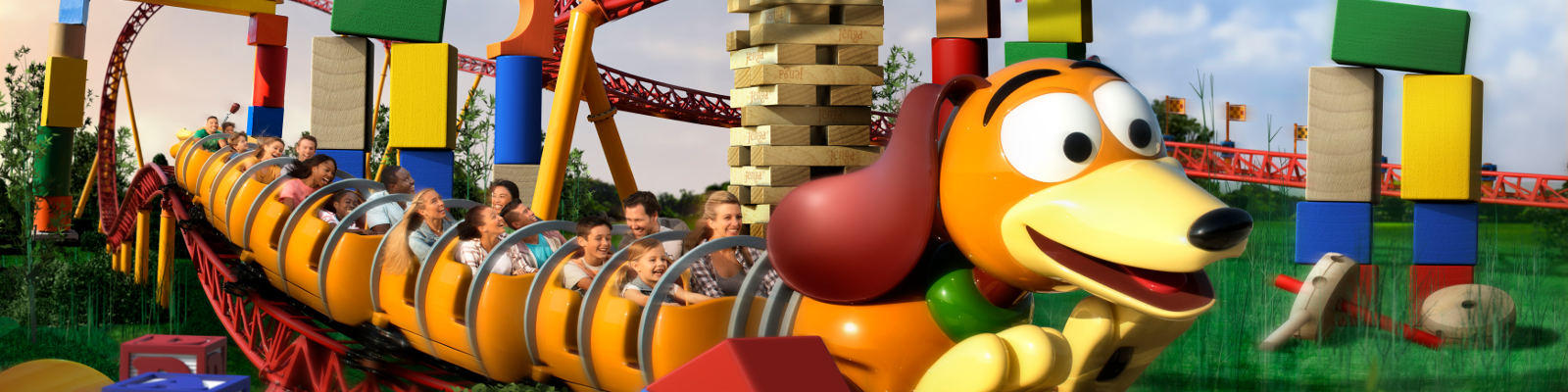 roller coaster toy story land disney world florida
