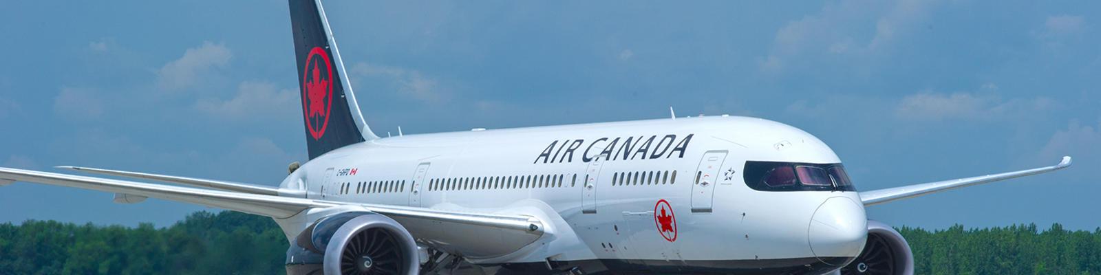 Air Canada Boeing 787-8 Dreamliner aircraft on runway