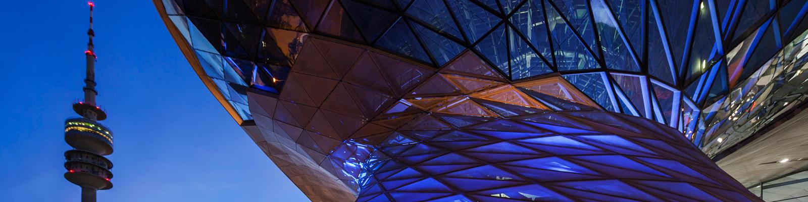 BMW Museum & Welt at night
