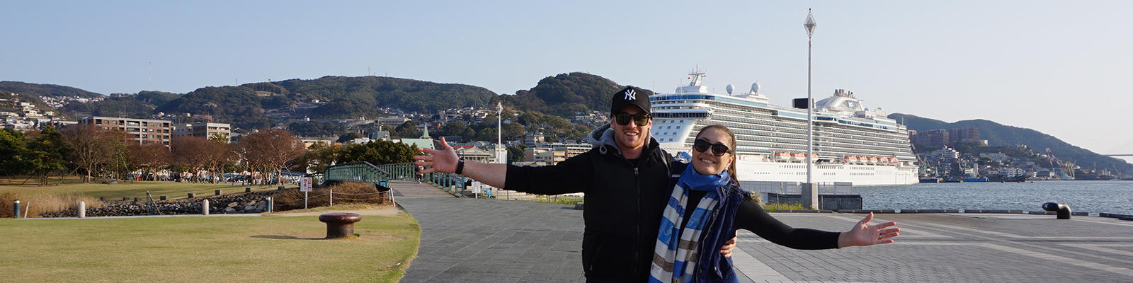 Majestic Princess cruise ship in dock