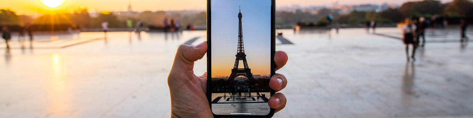 Mobile phone image of Eiffel Tower