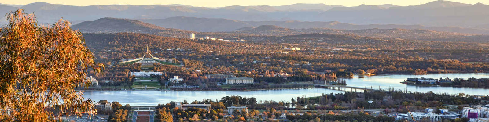 canberra sunset from mount ainslie