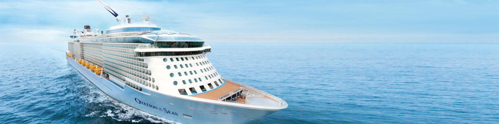 Royal Caribbean's Ovation of the Seas sets sail.