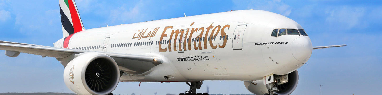 An Emirates plane.
