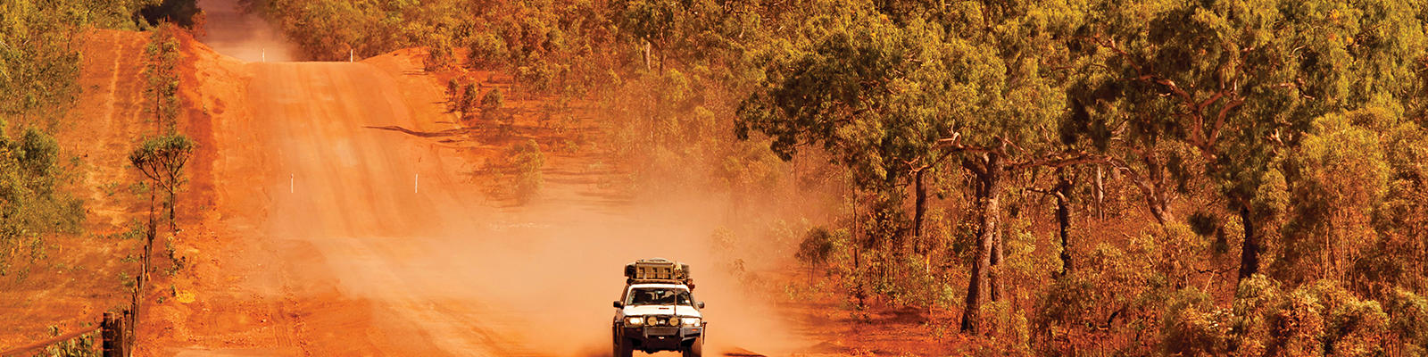 the red inland roads on far north queensland