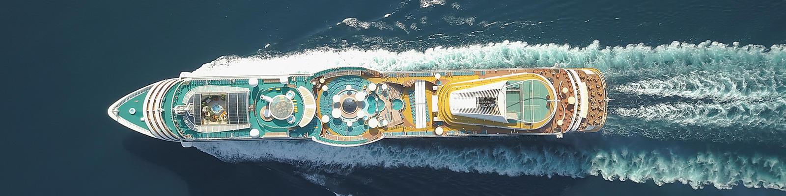 cruise ship aerial