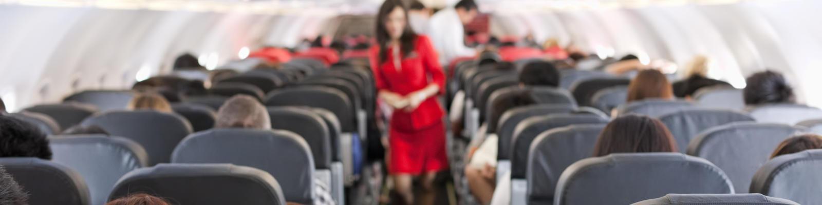 Window versus aisle seat airplane