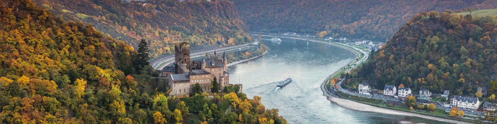 burg katz castle germany and rhine river