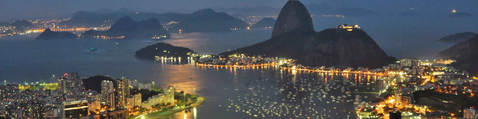 A night view of the Rio coastline